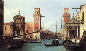 venedig Ölbilder verkaufen - View Of the Entrance To The Arsenal Canaletto Venedig